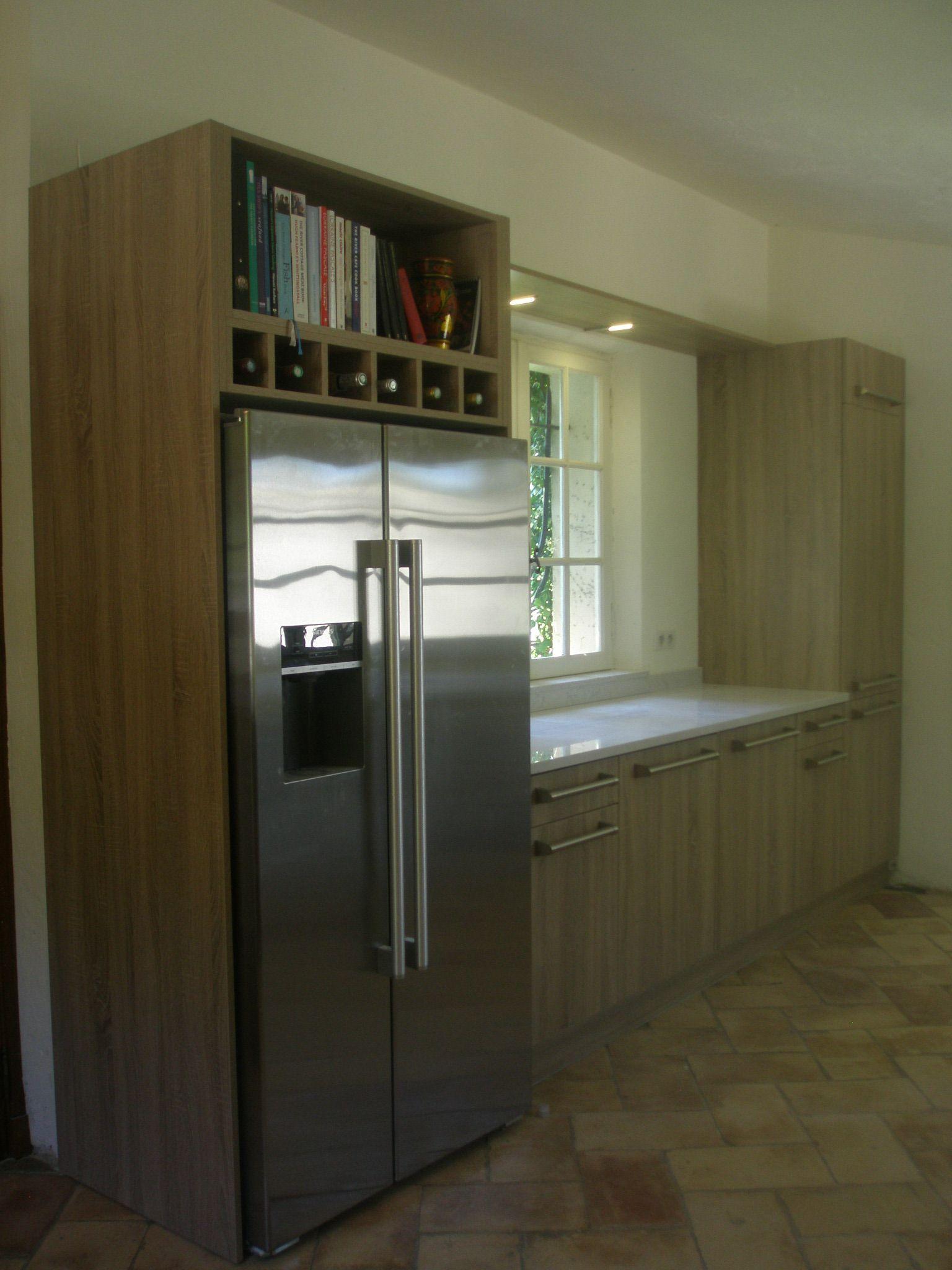 Stratifié Aspect Bois KELLER Plan Silestone Architecte - Cuisiniste nice