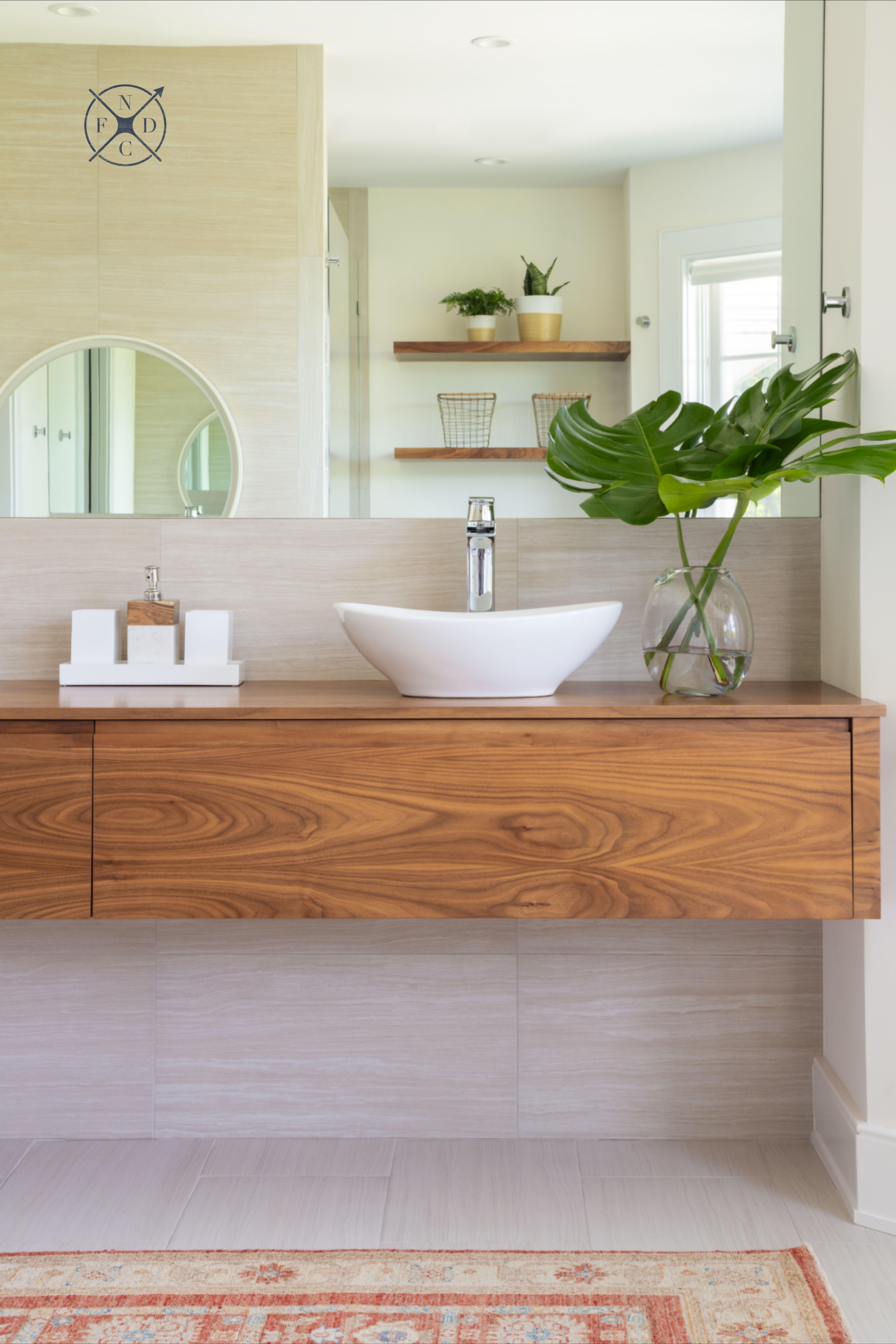 Aldrich Lane Project Modern Bathroom Vanity Wood Wood Bathroom Vanity Floating Wood Vanity