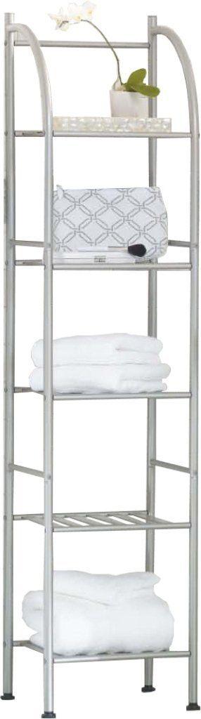 Badregal Bad Wc Regal Handtuchhalter Amazonde Küche  Haushalt - handtuchhalter für küche