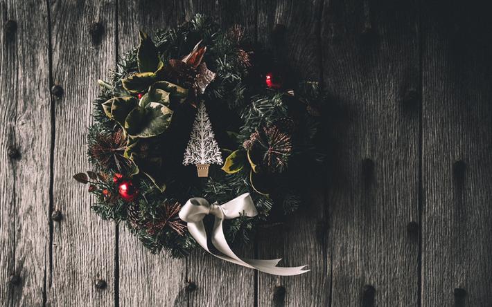 Fond D écran Vacances De Noël: Télécharger Fonds D'écran Couronne De Noël, Décoration De