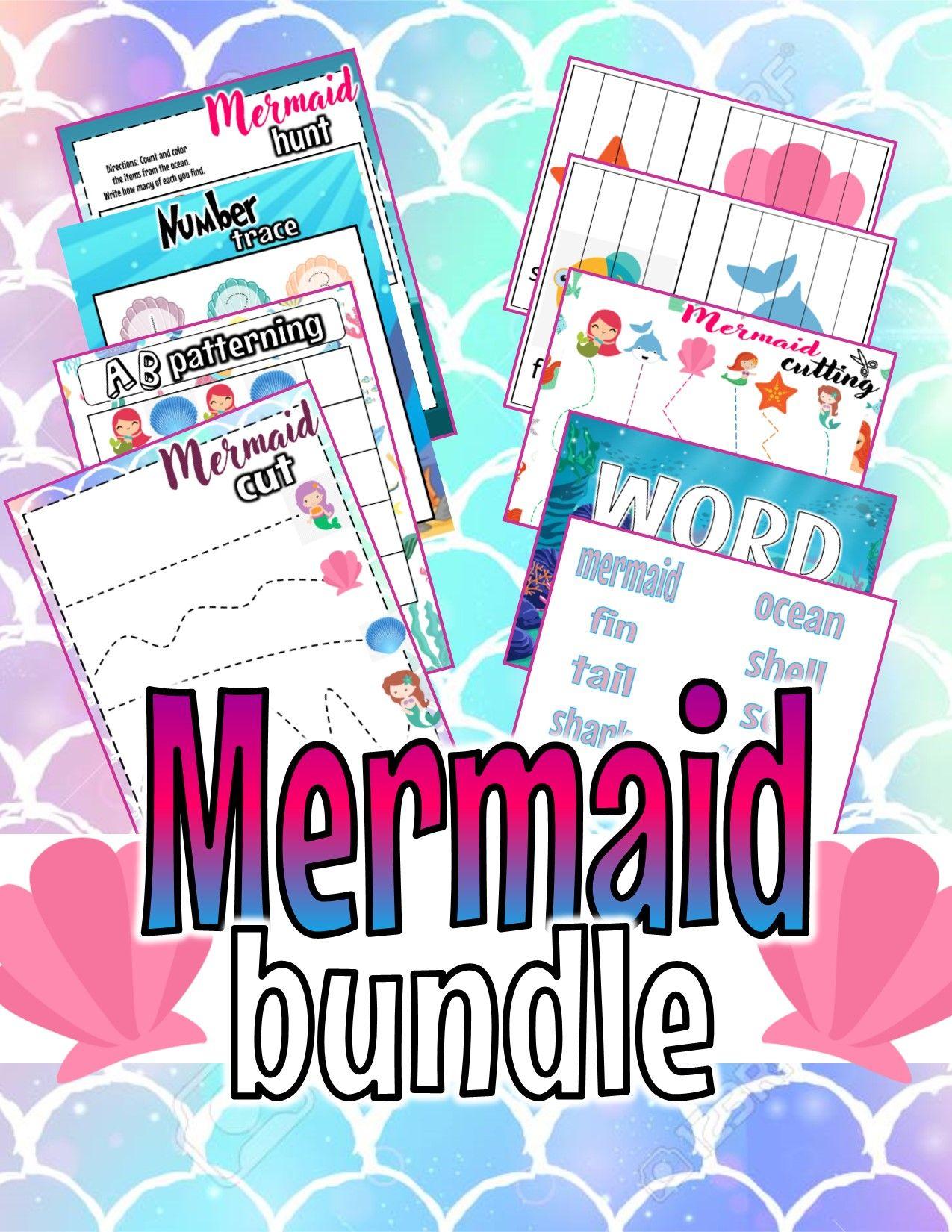 A Week Of Mermaids Prek Kinder Curriculum