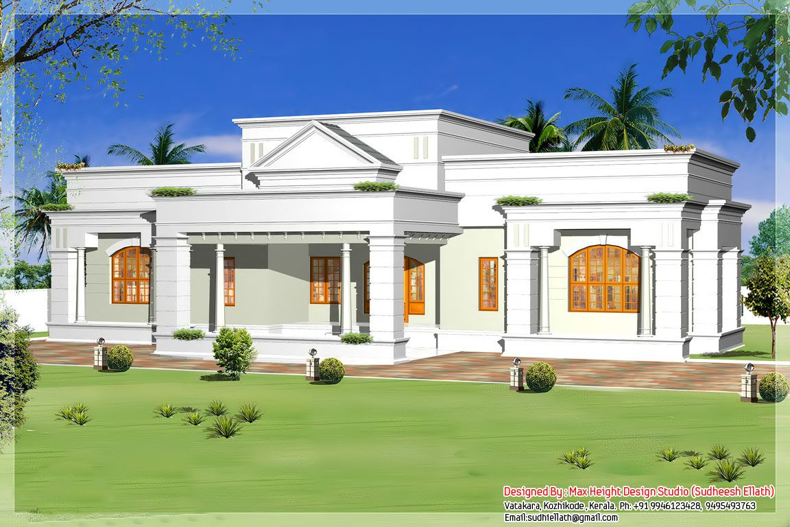 Single storey bungalow house plans single storey kerala house model with kerala house plans