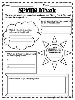 Spring break mini pack freebie school pinterest for Fall break vacation ideas