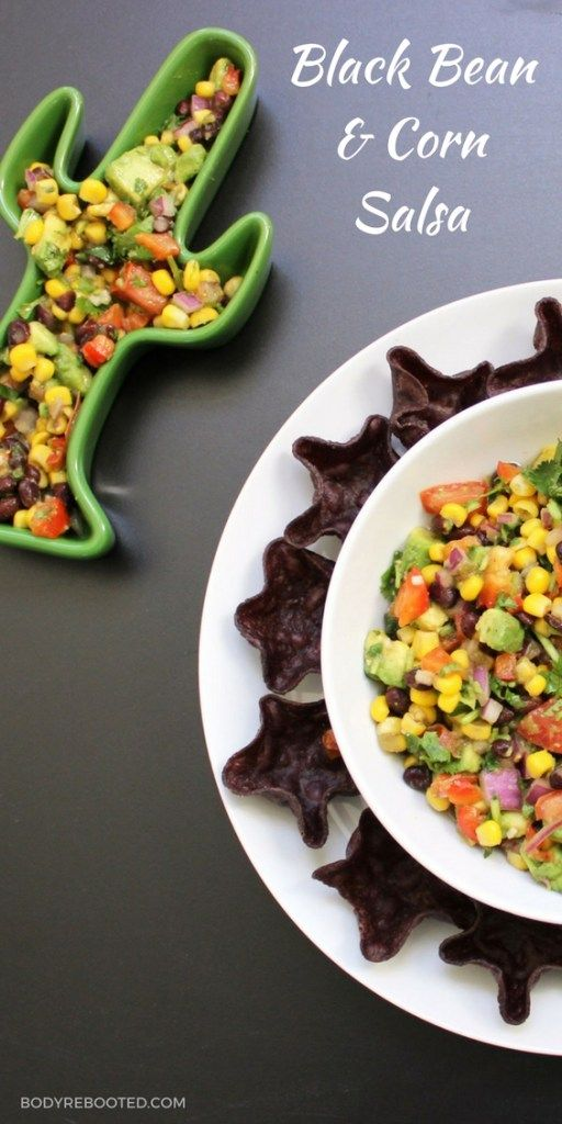 The perfect recipe for tailgating parties - Black bean and corn salsa by @BodyRebooted