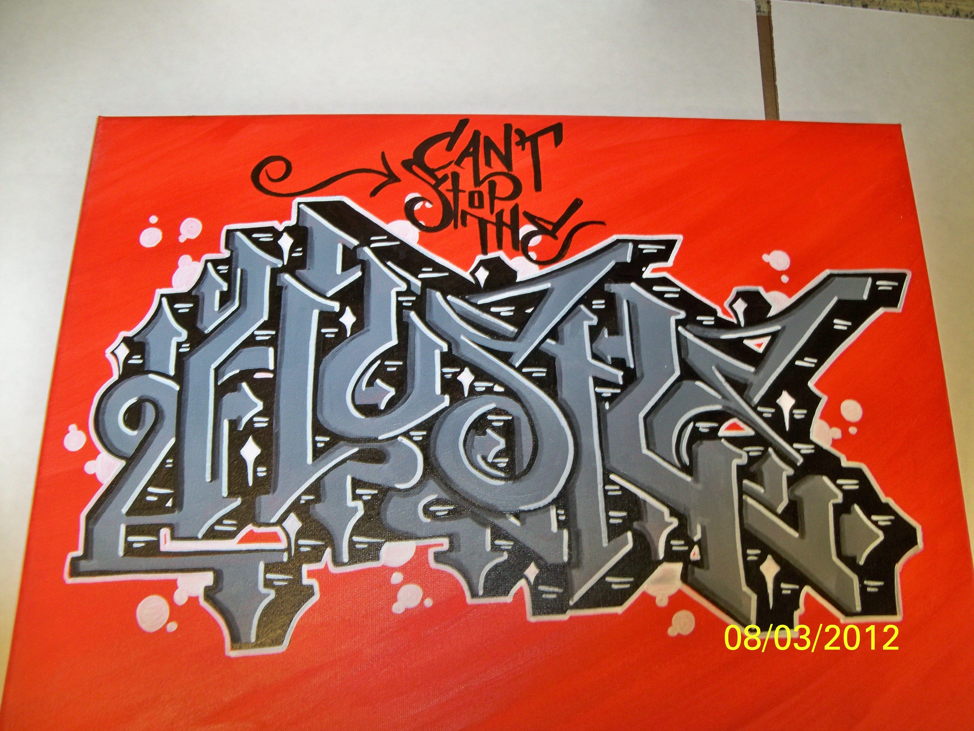 Graffiti art quotes - Can T Stop The Hustle Graffiti Striveone Vincentquitugua Amazing Art