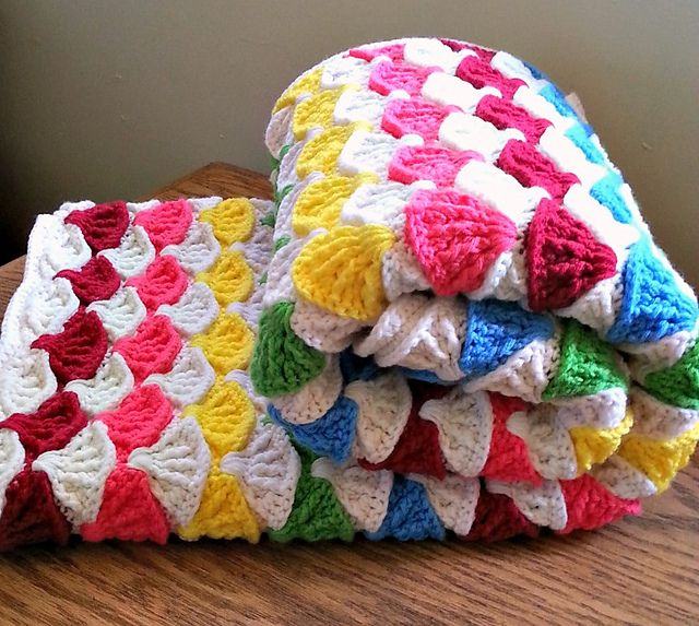Paintbrush Pillow & Afghan pattern by Susan Carlson ...