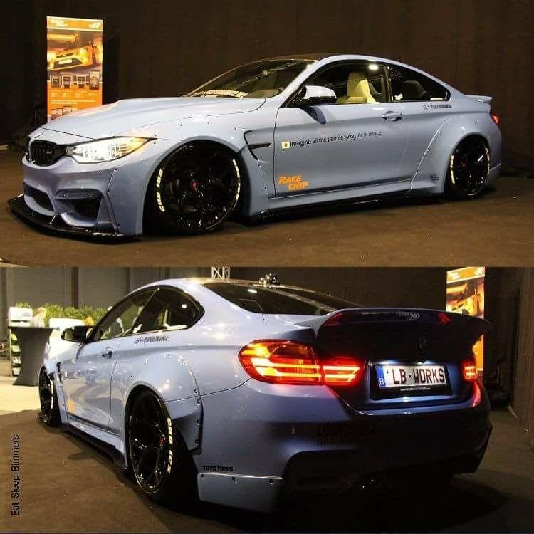 BMW F82 M4 White Widebody Liberty Walk LB Performance
