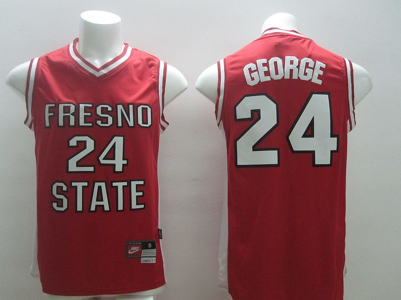 Image via Nike; 2014 Indiana Pacers 24 Paul George Red University Jersey