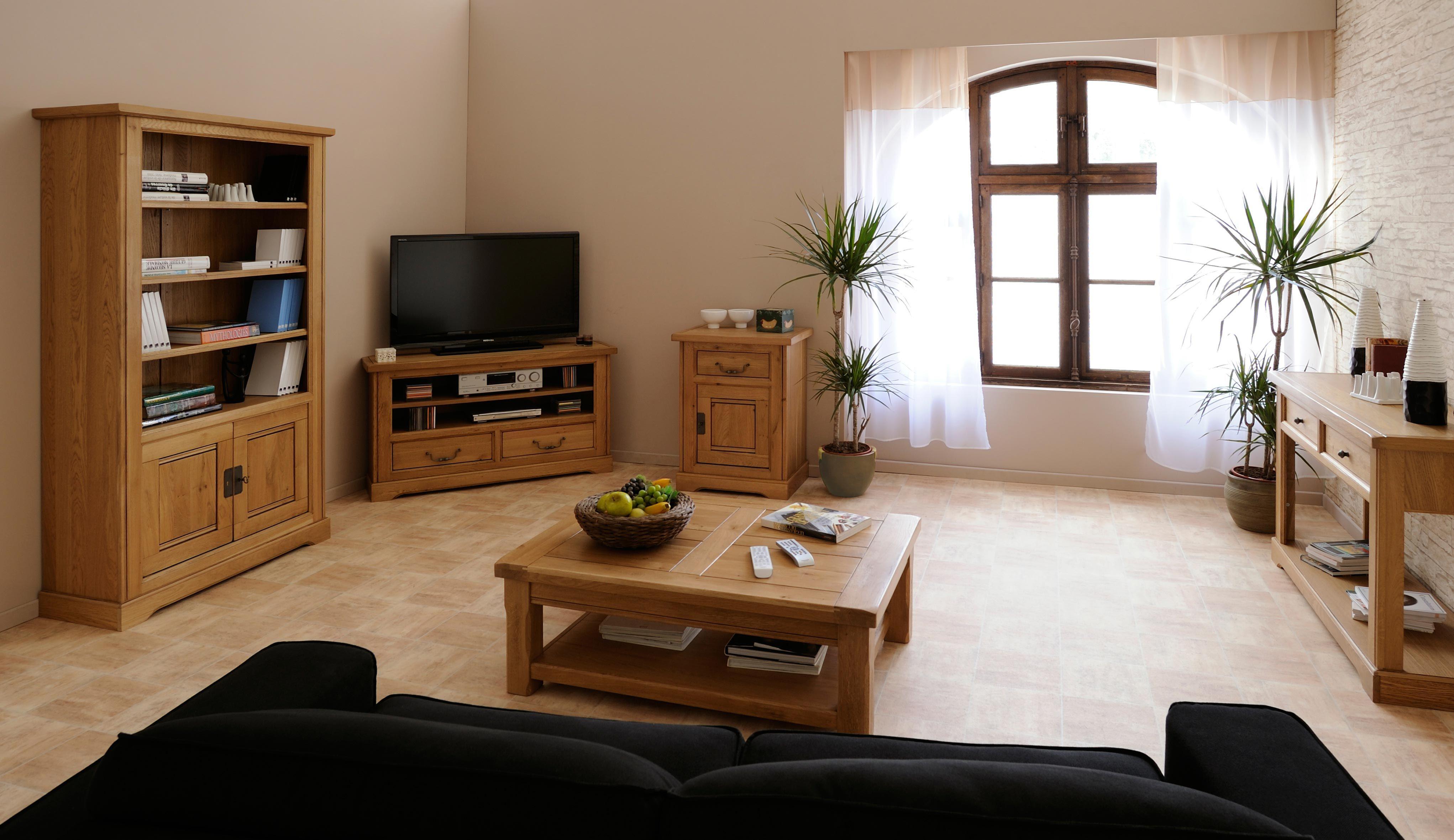 Mobila living camera de zi rustica din lemn masiv for Mobila living moderna italiana
