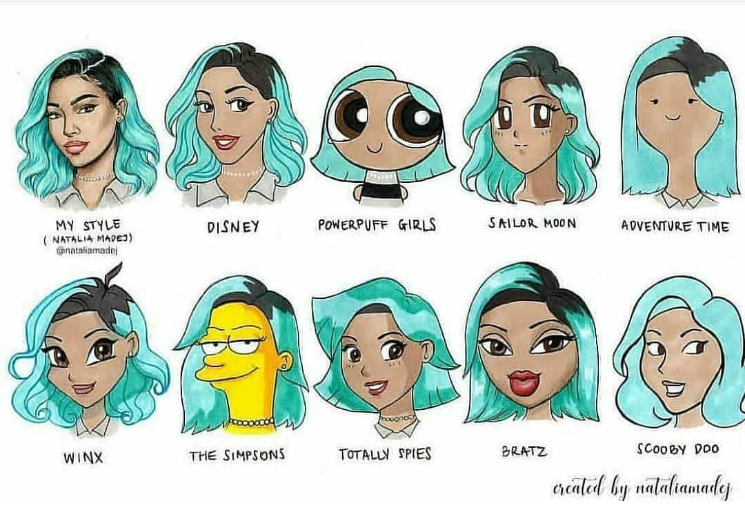 55 5k Likes 278 Comments Art Greenland On Instagram Which One Is Your Favorite Credit Nataliam In 2020 Art Style Challenge Cartoon Styles Style Challenge