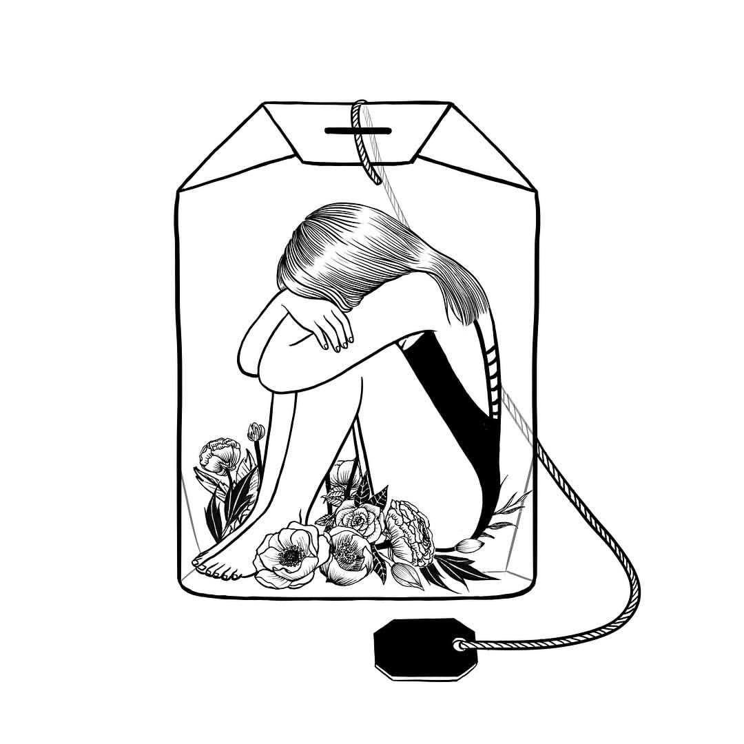 | Lady Grey Tea | by Henn Kim Go Get Art Print