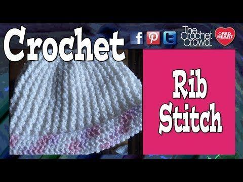 How To Crochet Single Rib Stitch - YouTube