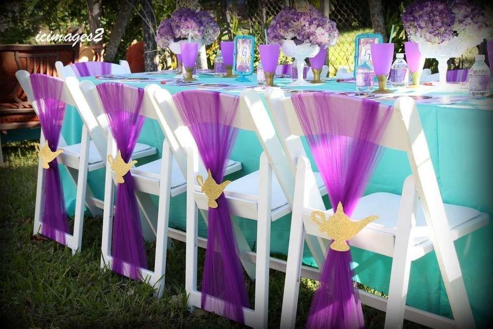 Princess Jasmine Birthday Party Ideas   Turquoise ...