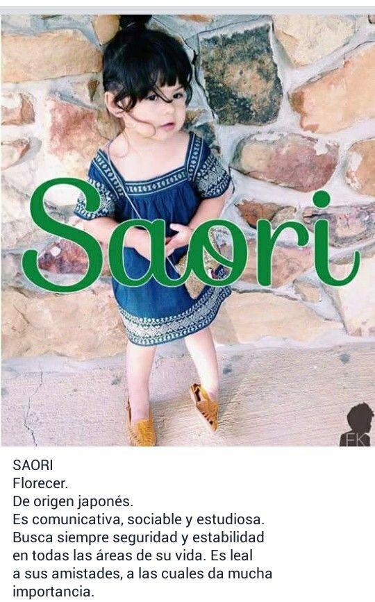 Nombres De Niñas Significado Del Nombre Saori Bebe Baby Names