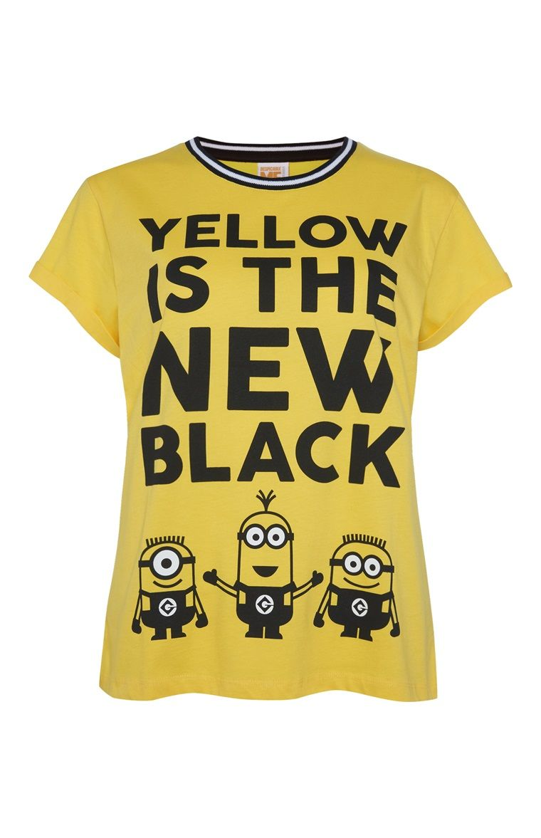 1641aad62 Primark - Yellow is the New Black minions T-shirt