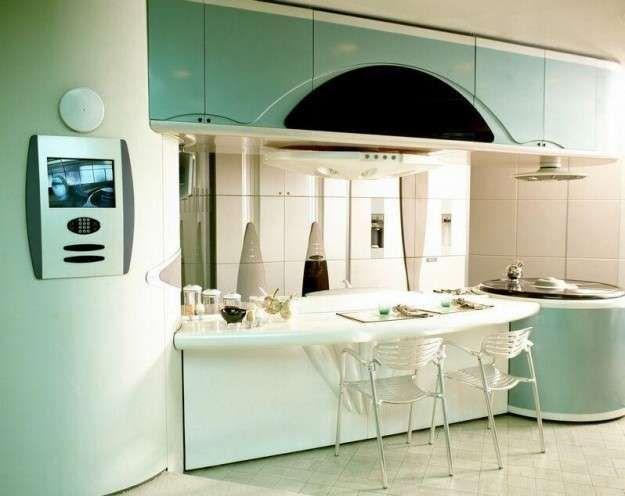 Idee per le pareti della cucina - Verde acqua sulle pareti