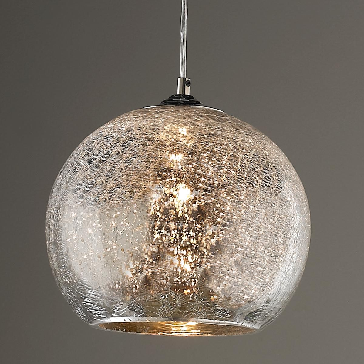 Crackled Mercury Bowl Pendant Light Pendant Lighting
