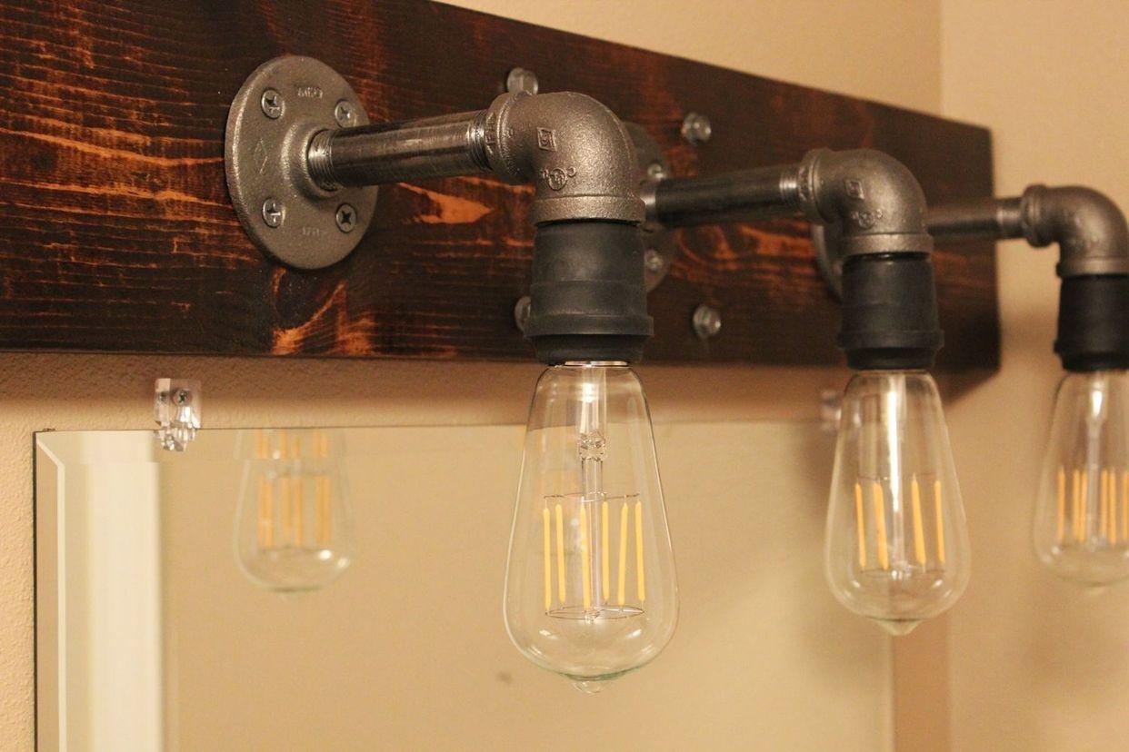 DIY Industrial Bathroom Light Fixtures (Home Decorating Trends ...
