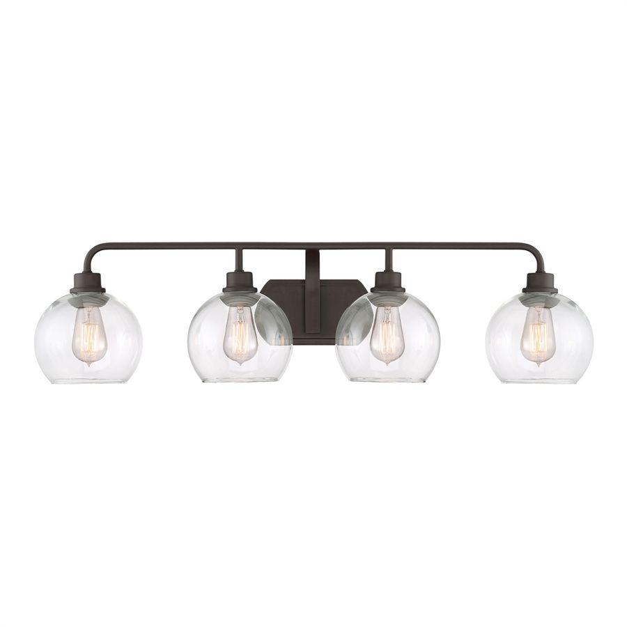 Quoizel Bathroom Light Fixtures quoizel 4-light 9.5-in old bronze orb vanity light lws2999l