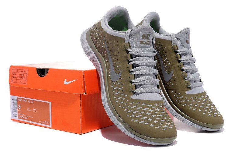 brand new 13e55 909c5 Nike Free 3.0 V4 Mens Original Beige Cook Grey Silver 511457 003