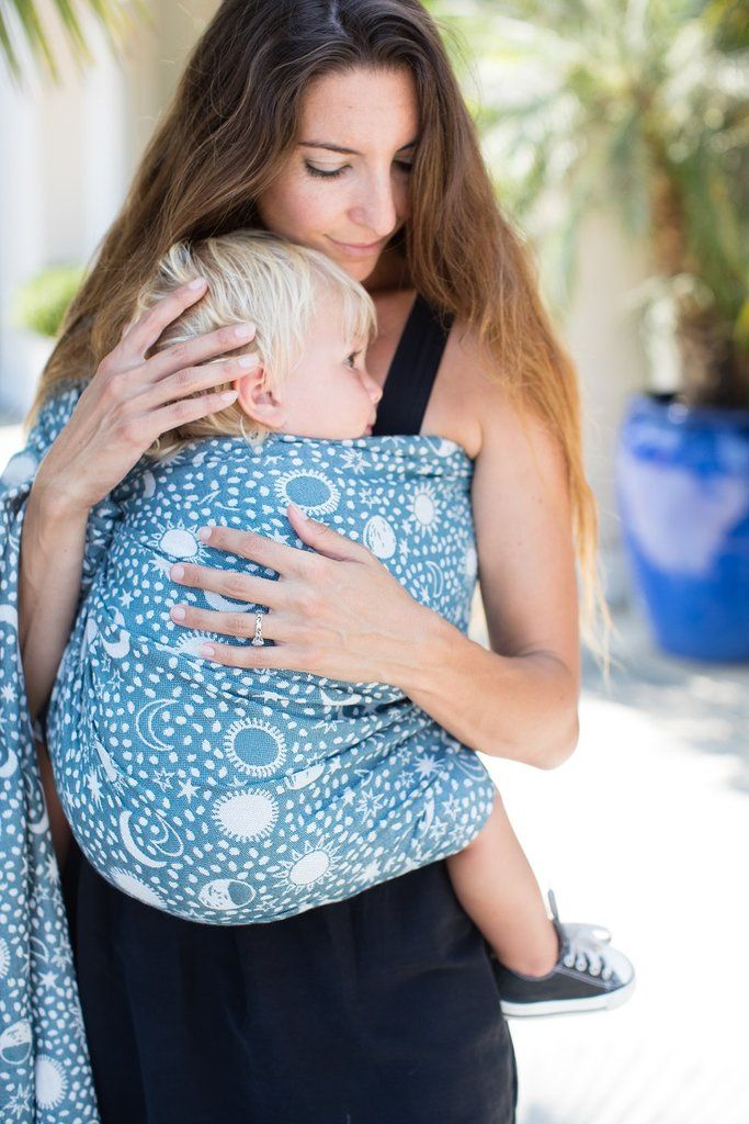 Blue And White Stars And Moons Baby Carrier Celestial Sky Cotton