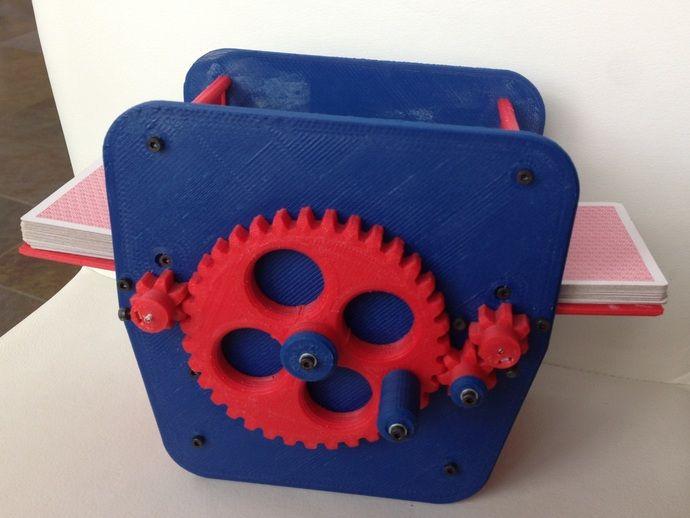 Manual Playing Card Shuffler By Rockstaralchemist Thingiverse 3d Printing Diy 3d Printing Projects Handmade Art
