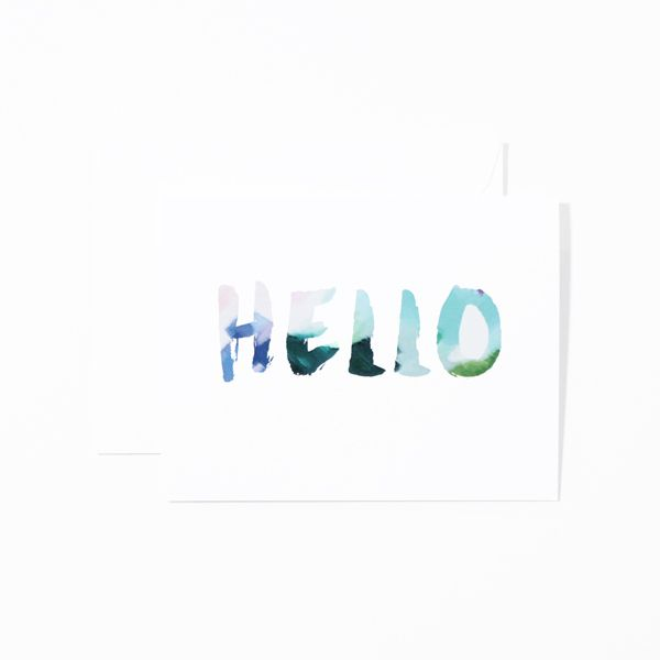 Hello Spring Greeting Collection  Letter A Paper Co  Letter A