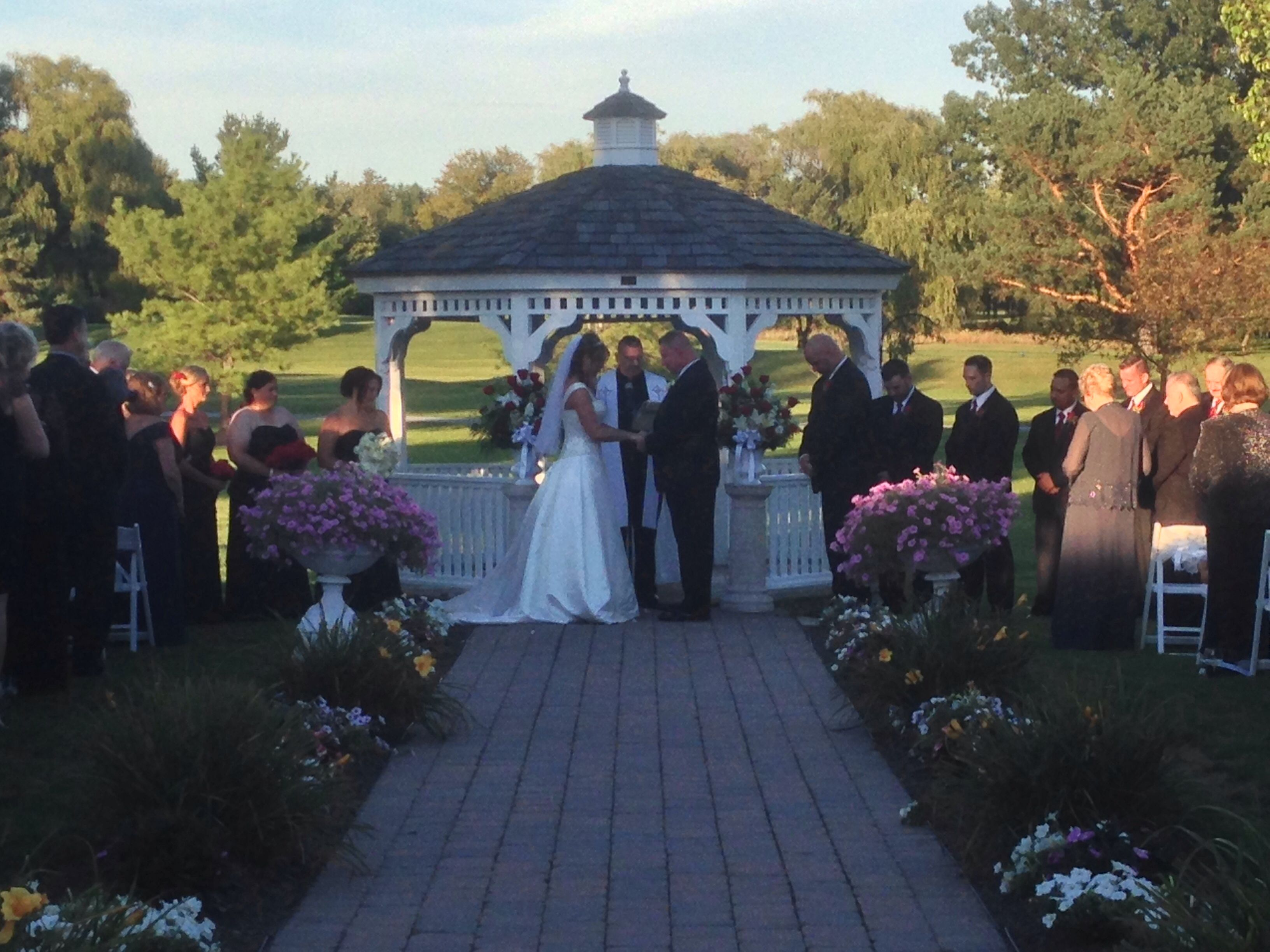 Outdoor Ceremony At Mohawk River Country Club Music Man Entertainment DJ Mike Garrasi MohawksWedding ReceptionOutdoor