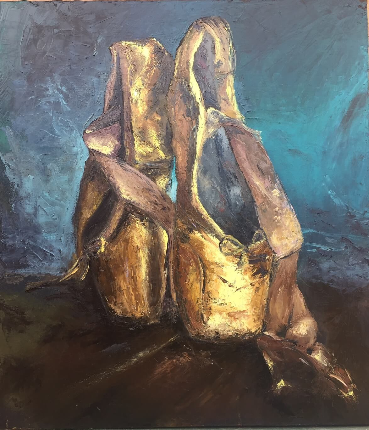 Isn T She Lovely Isn T She Wonderful Painting Of Gold Ballet Shoes Gold Ballet Shoes Dancers Art Ballet Shoes