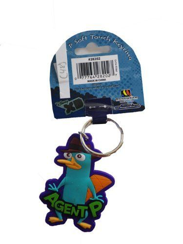Robot Check Phineas And Ferb Perry The Platypus Rubber Keychain