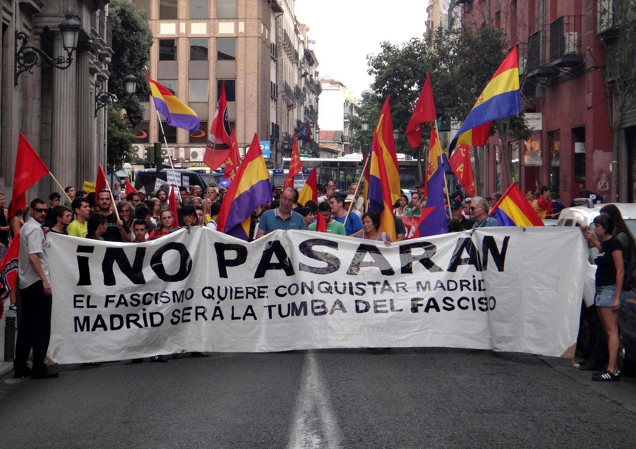 A March Commemorating The Original AntiFascist No Pasaran - Anti fascismos map us
