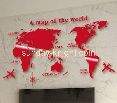 Wholesale acrylic world map sticker decorative wall mirror glass wholesale acrylic world map sticker decorative wall mirror glass tile 3d mirror wall mirror mak gumiabroncs Images