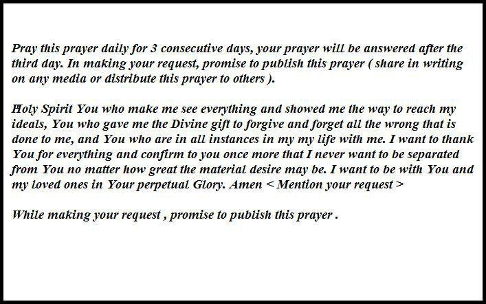 miraculous prayer