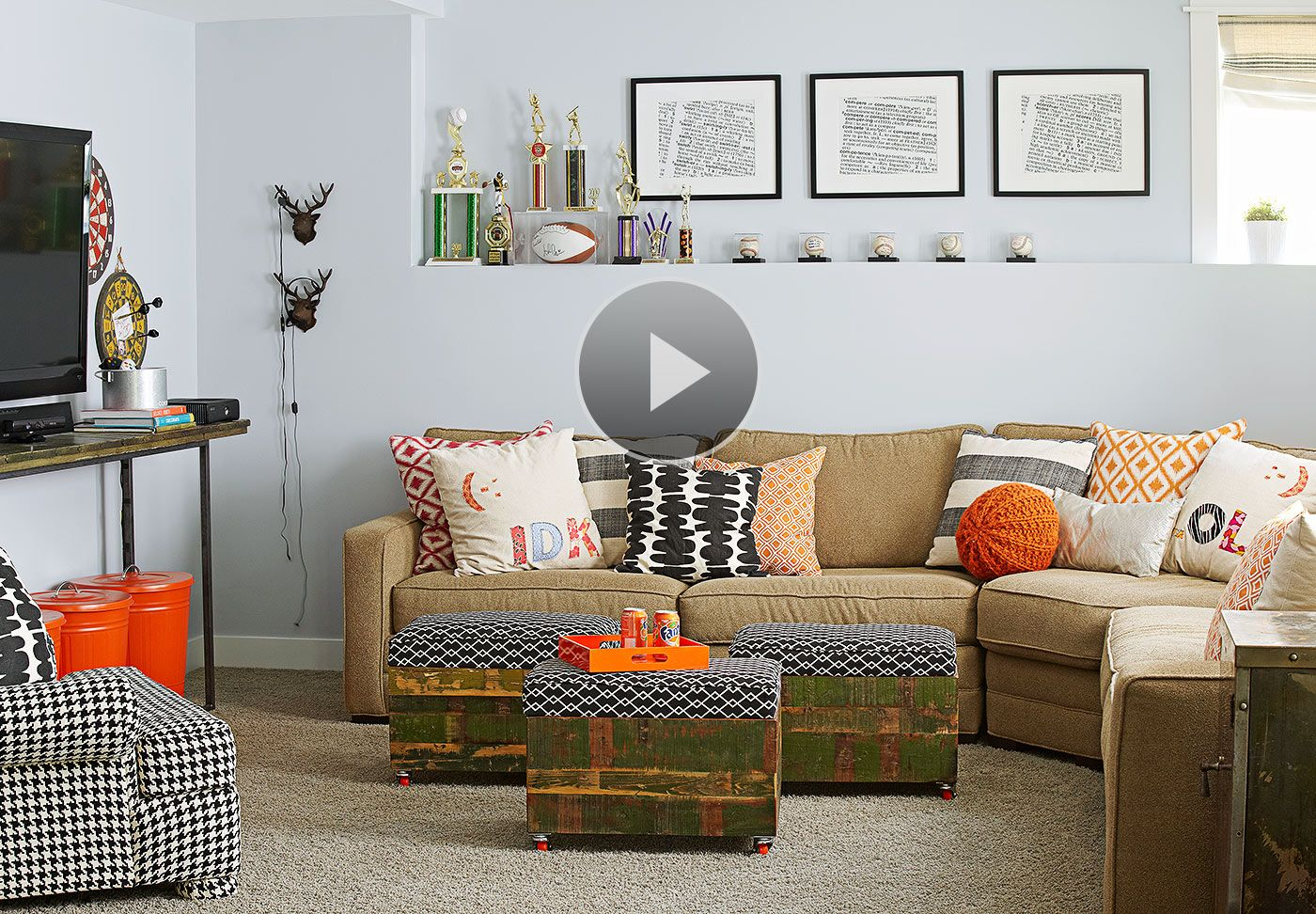 Make Your Basement Family Room The Place Where Everyone Will Want Delectable Family Living Rooms Decoration Inspiration Design