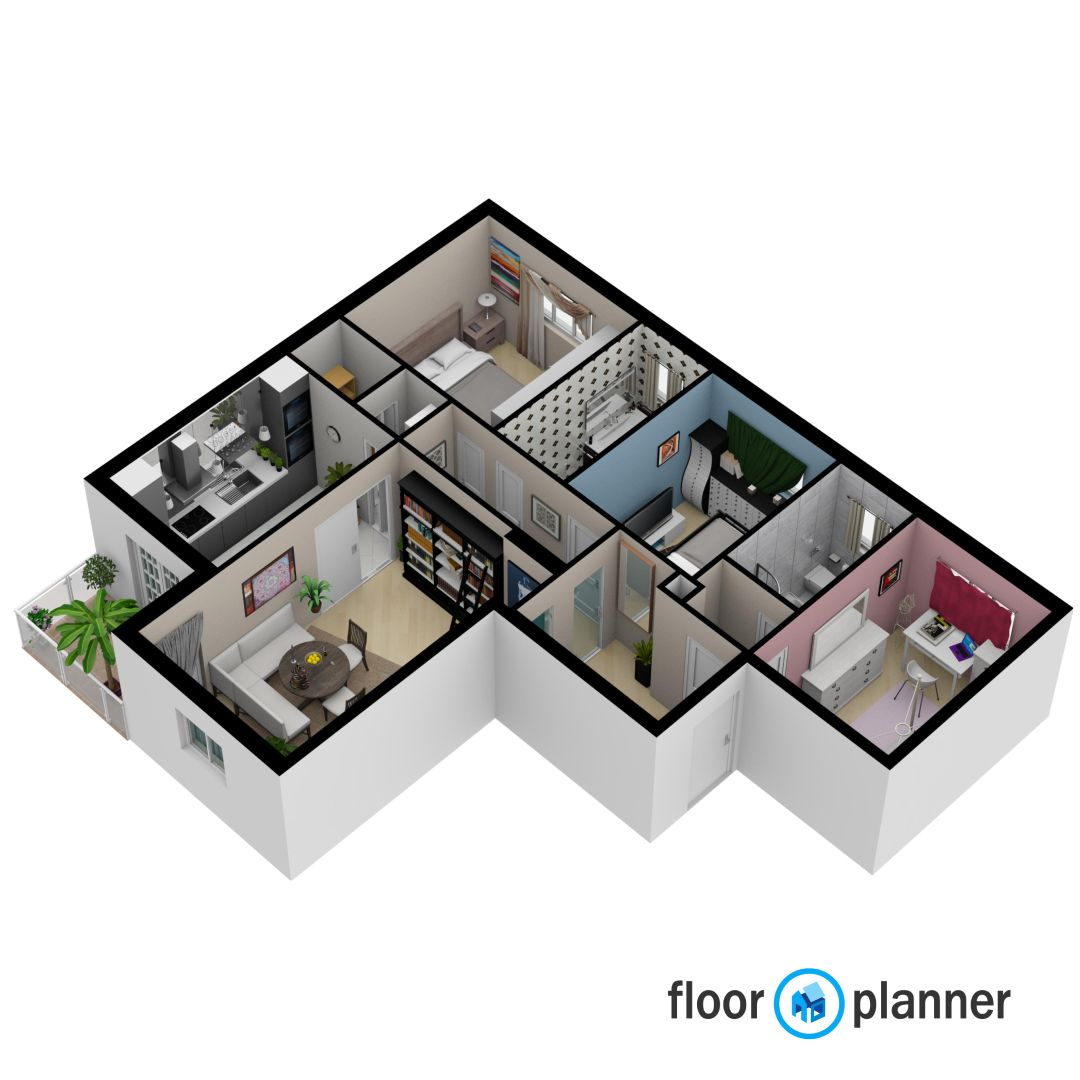 Very Detailed Floorplan Create Floor Plan Floor Plans Interior Design Software