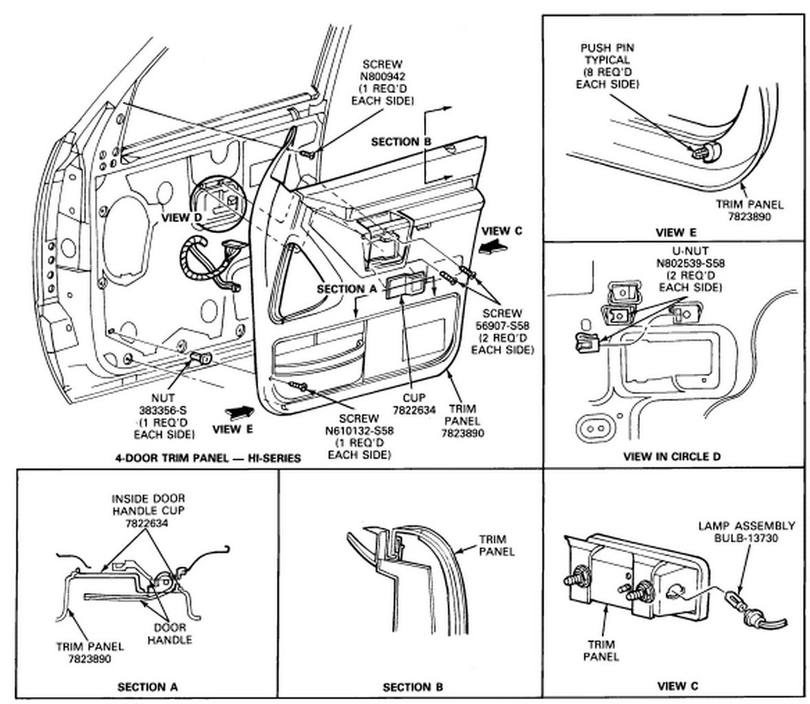 F150 Door Diagram