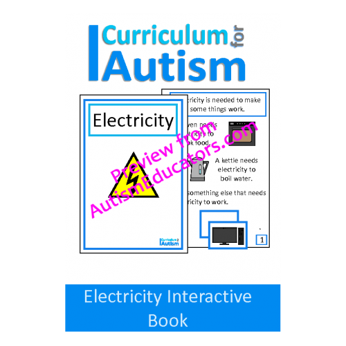 Electricity Interactive Adapted Science Book Science Books Social Skills Lessons Science Lessons