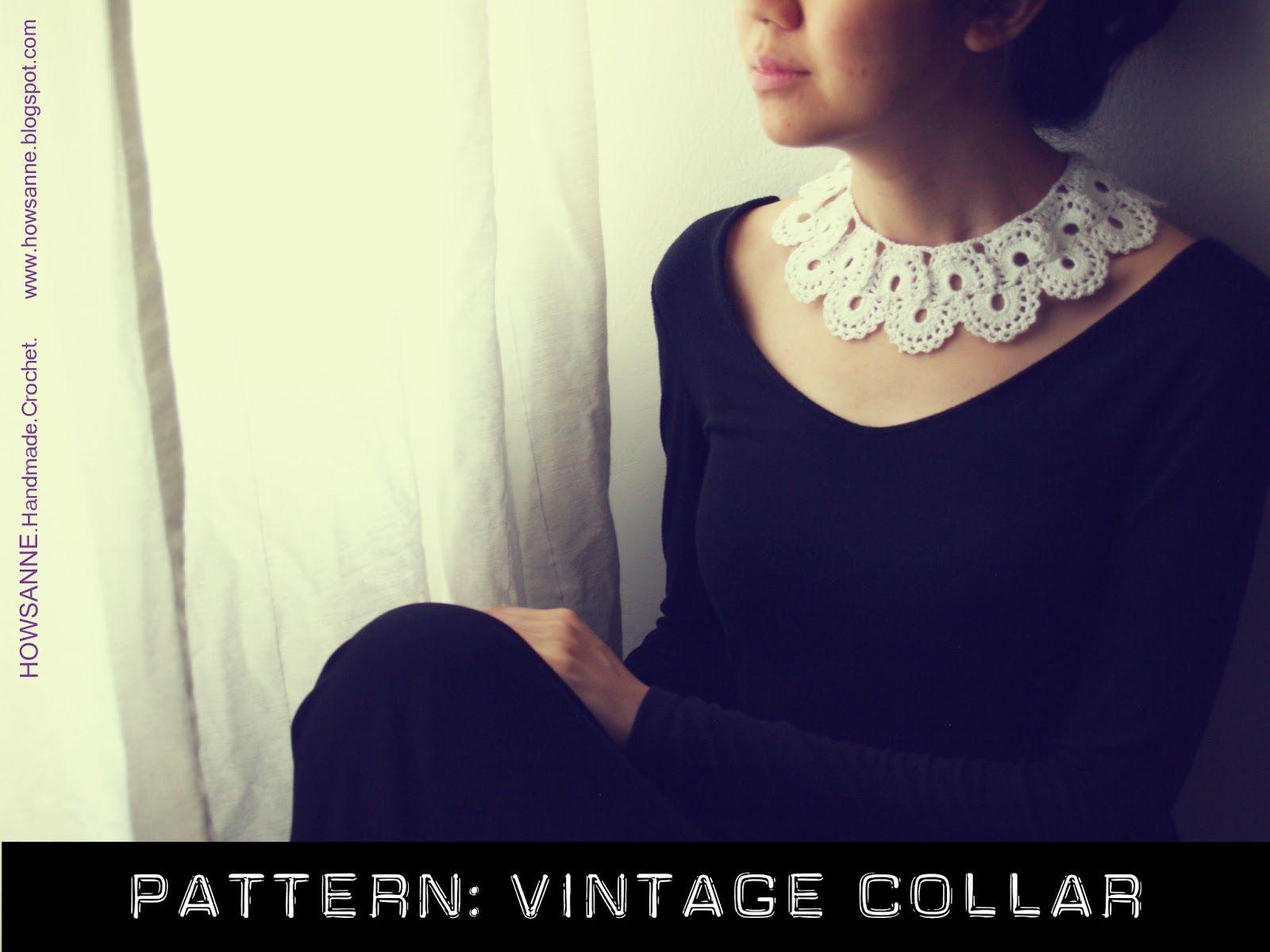 Crochet Pattern: Vintage Collar | Chale crochet | Pinterest | Tejido ...