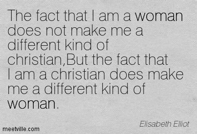 the fact that i am a woman does not make me a different kind of