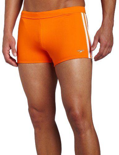 30dedc069c Speedo Men's Fashion Xtra Life Lycra Solid Striped Shoreline Square Leg  Swimsuit $27.99 - $45.95
