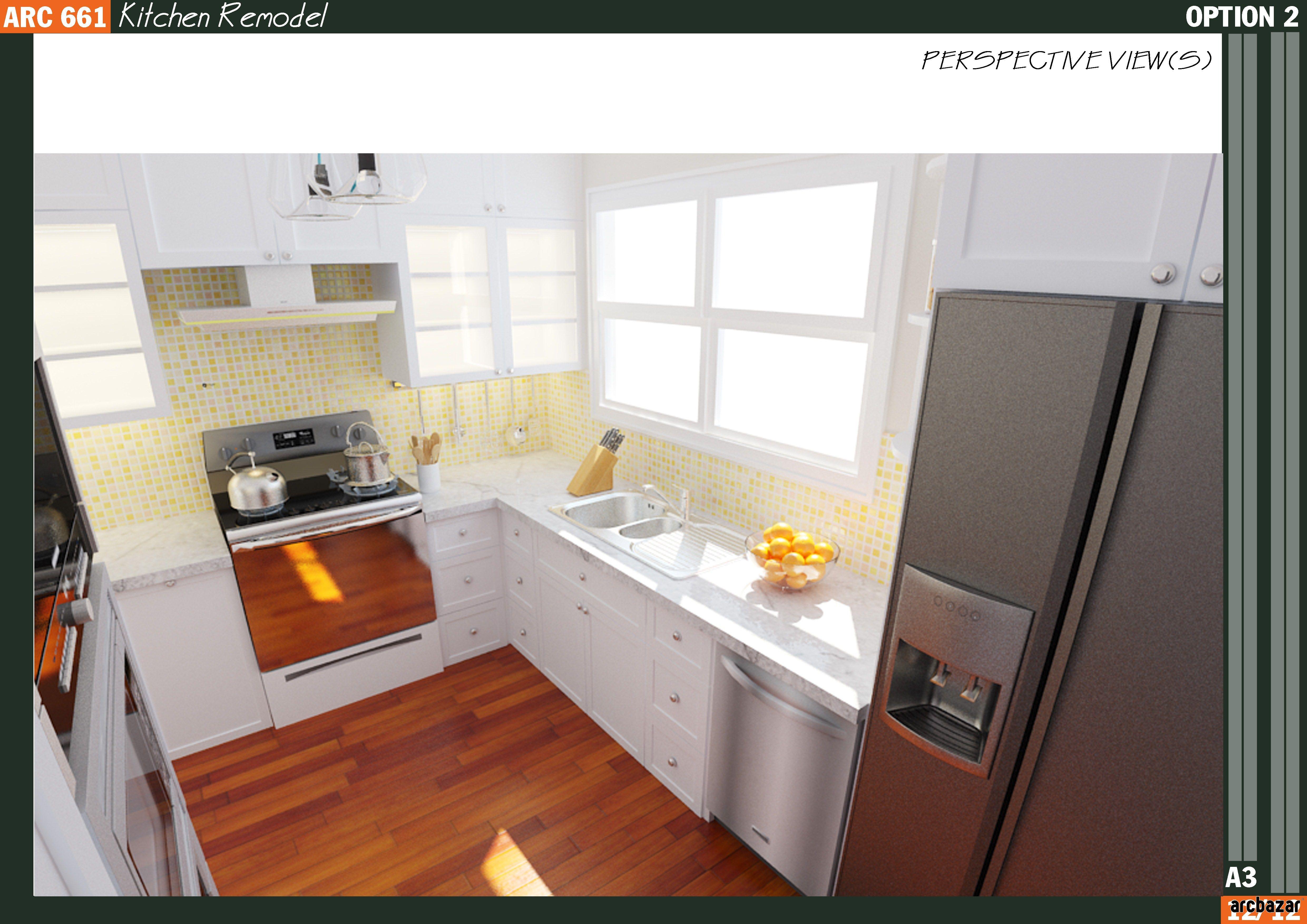 Kitchen Remodel design by Qarch Team via arcbazar.com | Kitchen ...