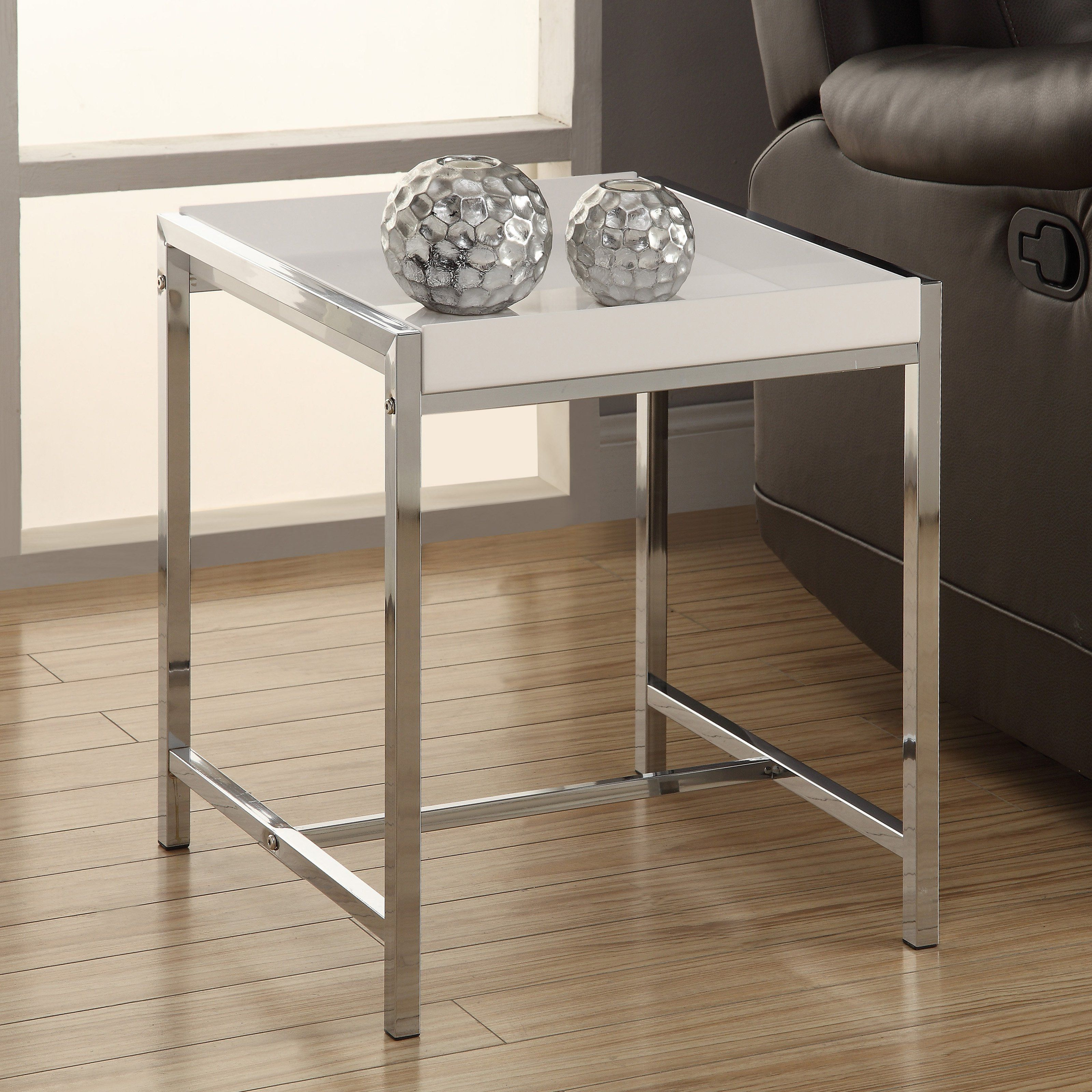 Prime Monarch I 30 Acrylic Metal Accent Table I 3050 Products Machost Co Dining Chair Design Ideas Machostcouk