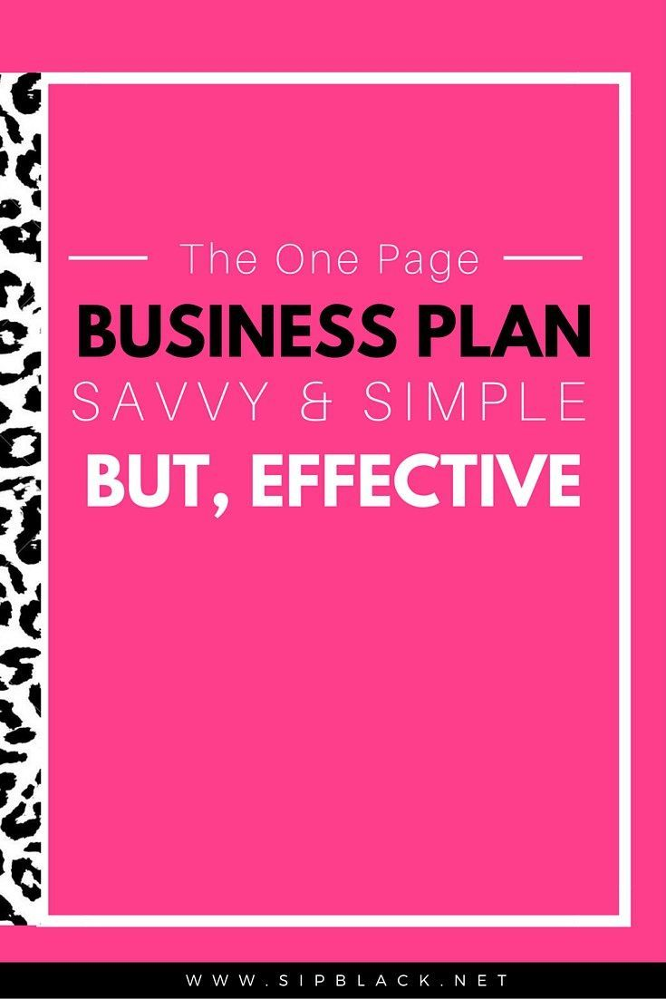 Business Plan One Page With Everything You Need To Start Today