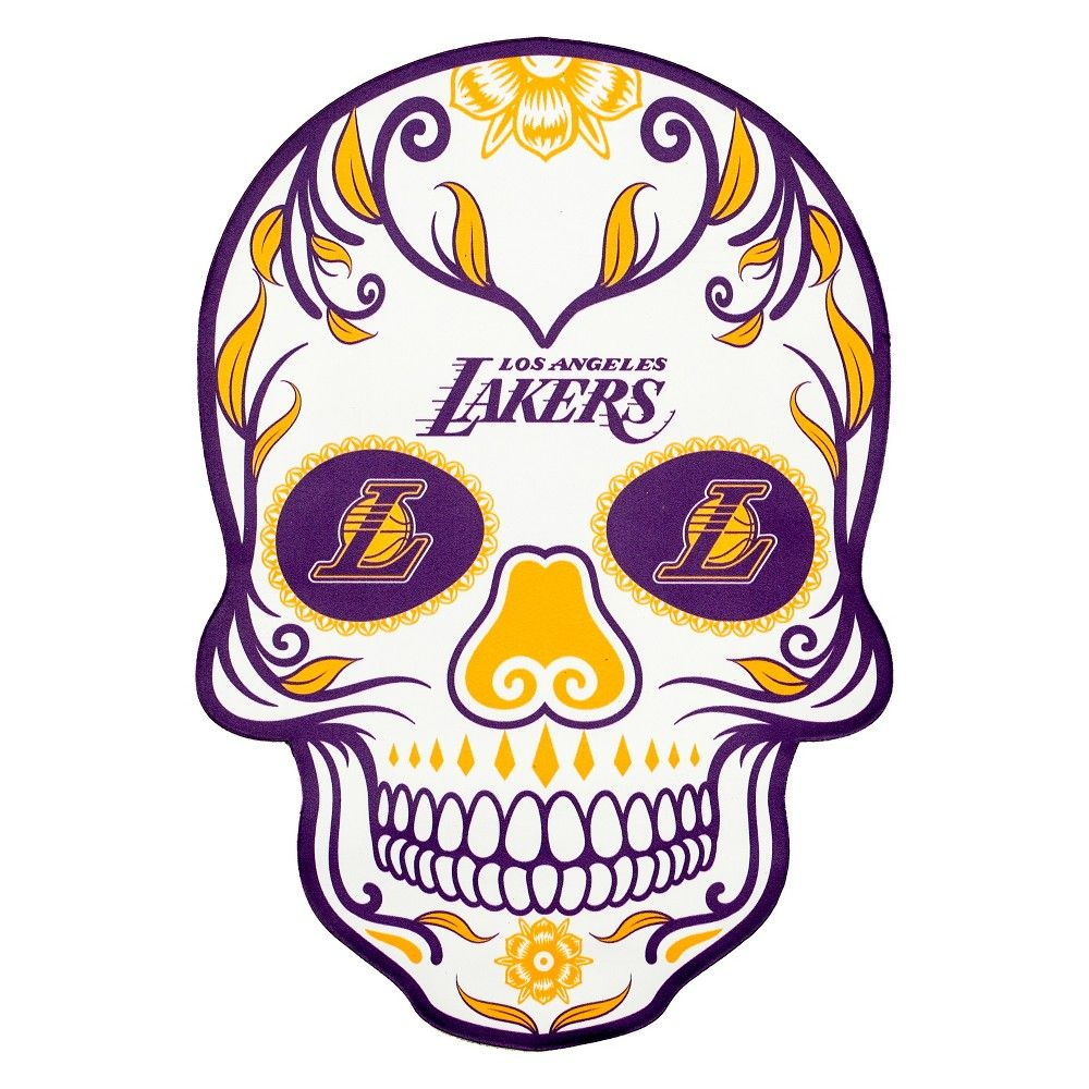 Nba los angeles lakers small outdoor skull decal