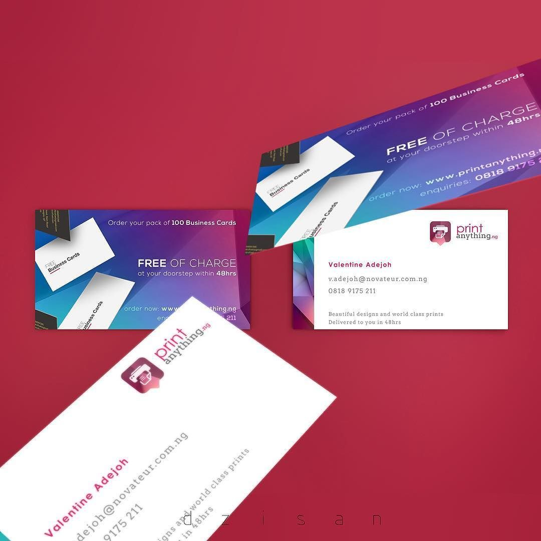 Business Card designs for printanything.ng @novateurng ...