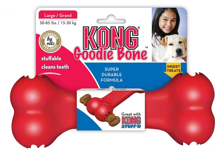 Amazon Com Kong Goodie Bone Dog Toy Large Red Kong Pet