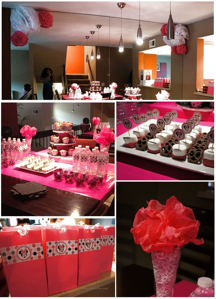 Minnie Mouse Birthday Party: Baby Girl Turned 2 | Minnie mouse ...