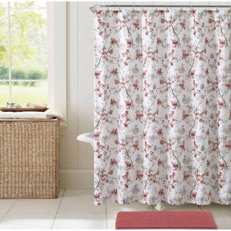 Vcny Home Multi-Color Jasmine Floral 14-Piece Bath Set, Shower ...