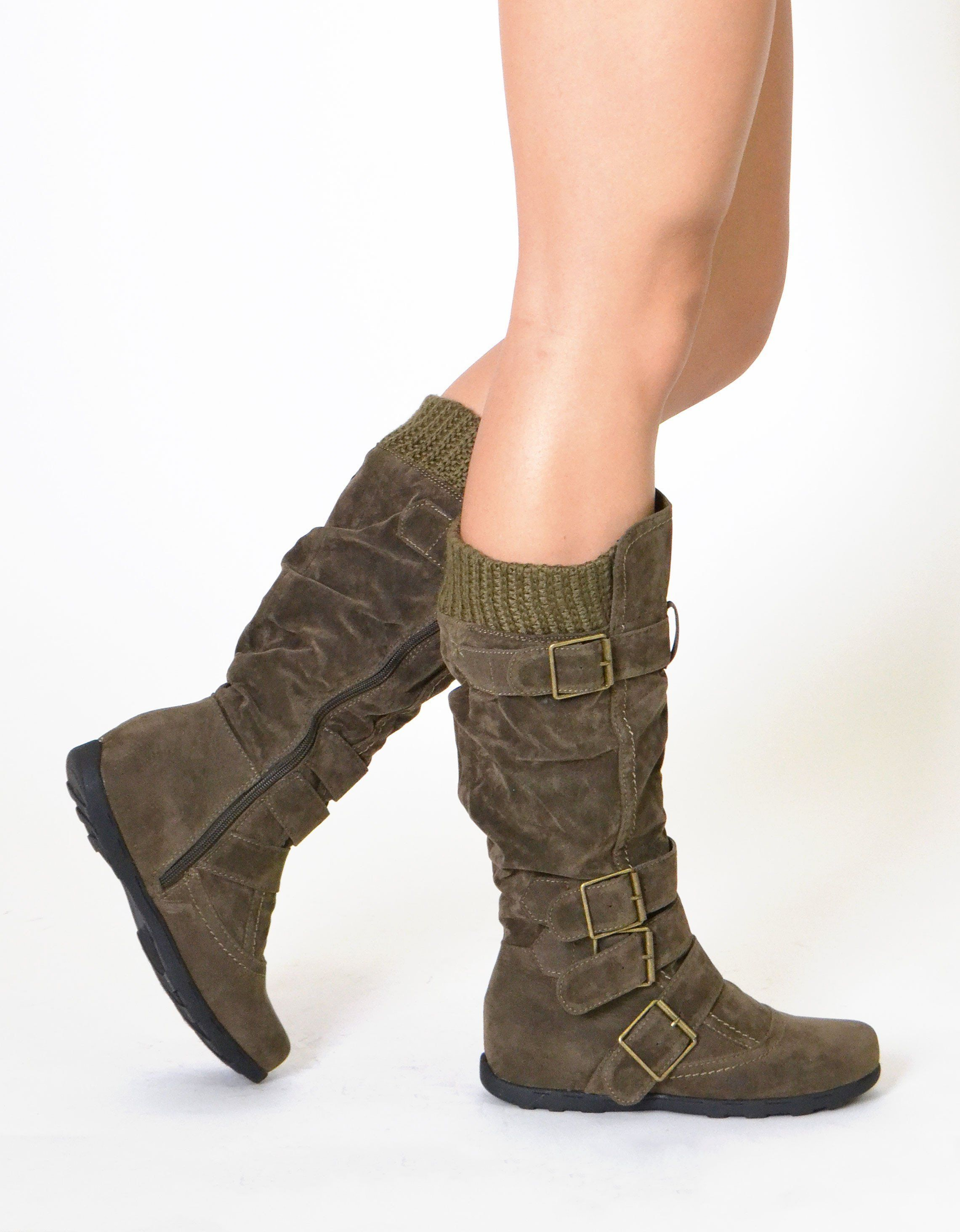 20bd700d313 Calves · Stay warm and still be fashionable in this stylish knee high boot.  - Material-