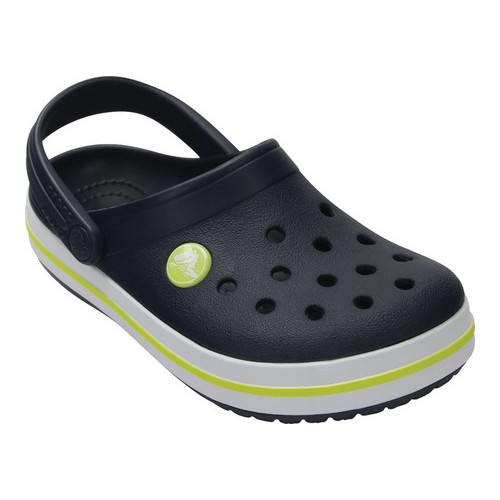 a13b41686 Children's Crocs Crocband Clog Juniors - Navy/Citrus Clogs in 2019 ...